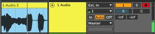 Open a new audio track and record