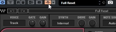 Activate the OVox sidechain on the top toolbar.