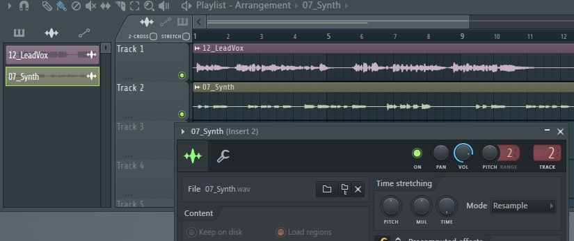 Import audio to an additional audio track