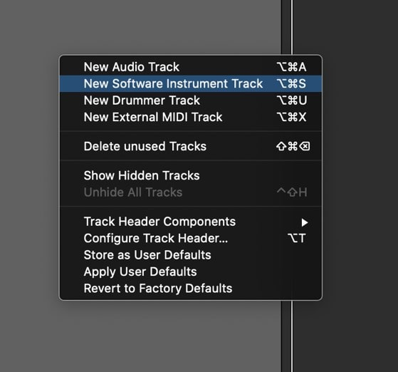 Create a new audio track and feed it with your voice signal