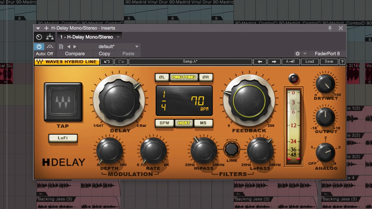 Mixing Vocals with Waves Plugins in Studio One – Delay