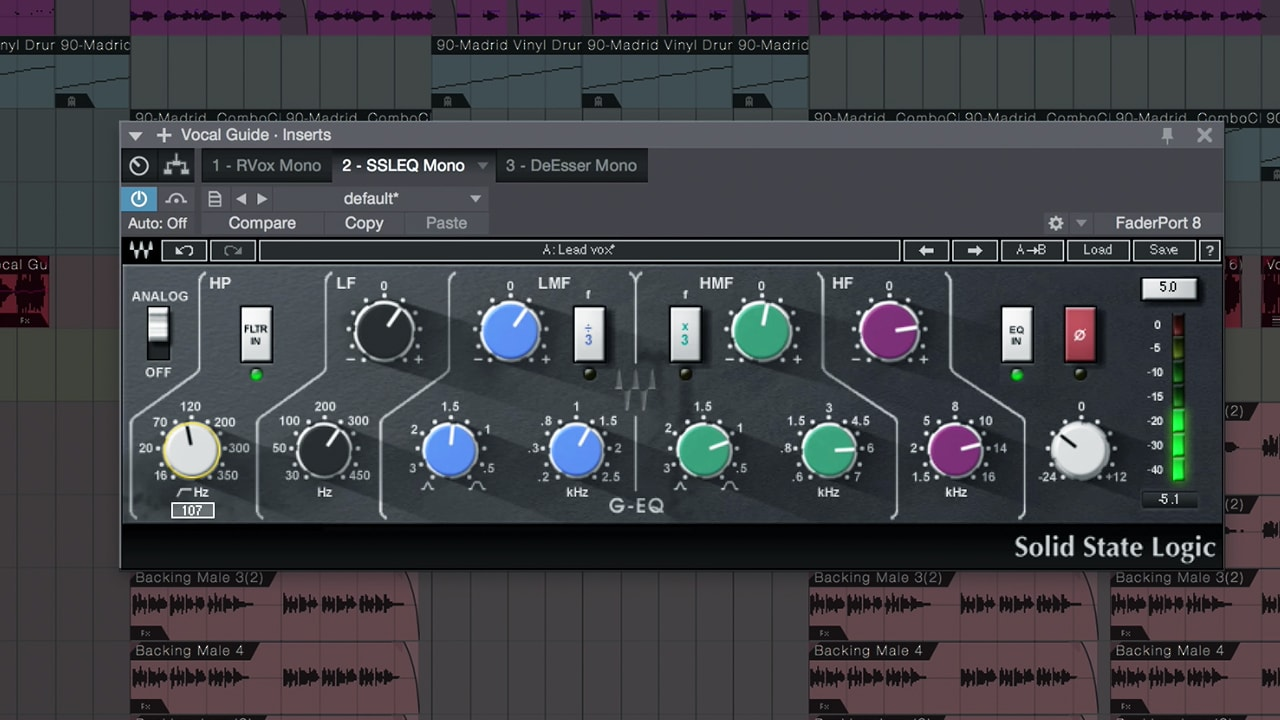 Mixing Vocals with Waves Plugins in Studio One – EQ