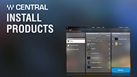 Waves Central Tutorial: The Install Products Page
