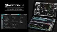 eMotion LV1 Tutorial 1.5: Setup Window – Mixer Settings