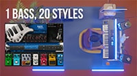 20 Basslines on Keyboards with the Bass Fingers Plugin
